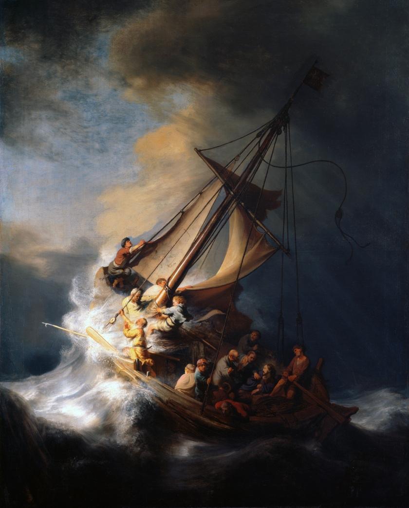 28836-Matthew 8 23 rembrandt storm gallilee